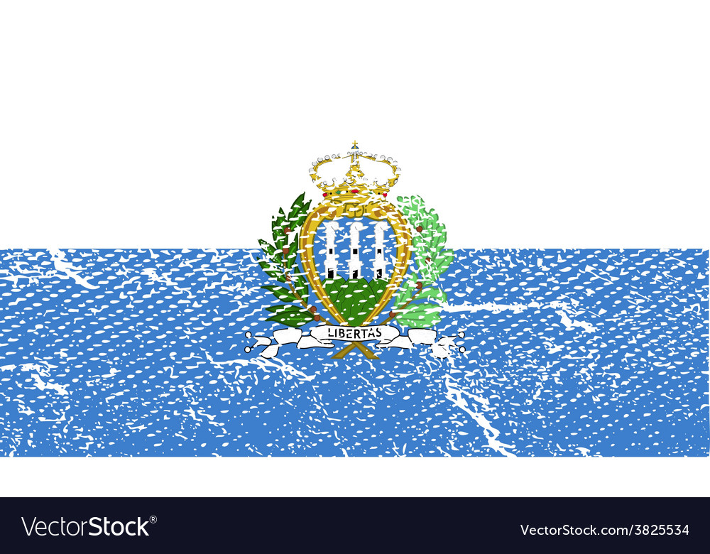 Flag of san marino with old texture vector | Price: 1 Credit (USD $1)