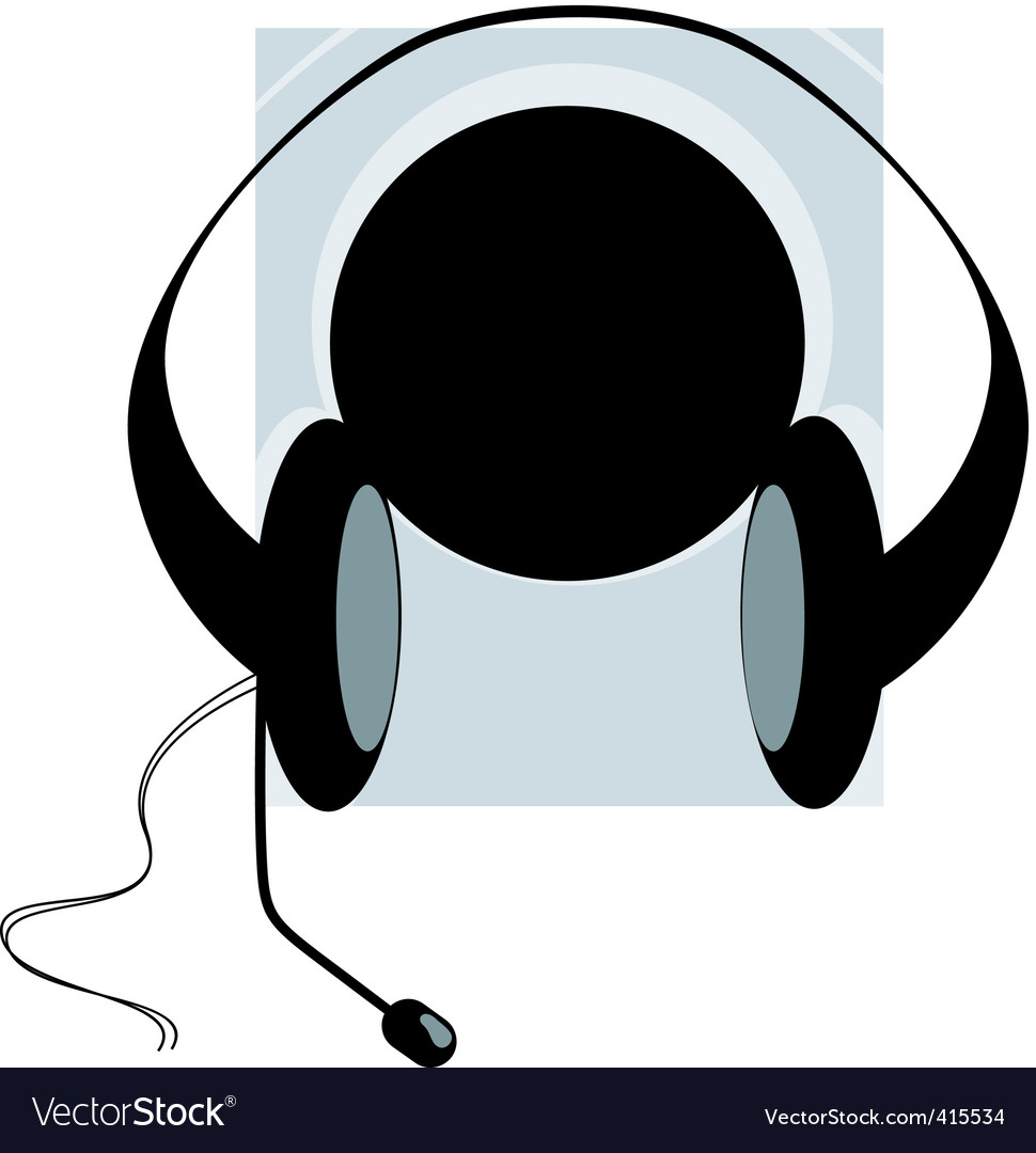 Headphone and disc vector | Price: 1 Credit (USD $1)