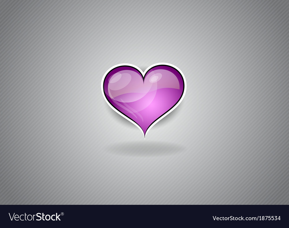 Heart grey background pink vector | Price: 1 Credit (USD $1)