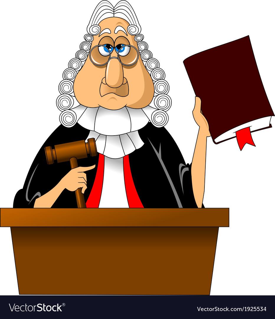 Judge cartoon vector   Price: 1 Credit (USD $1)