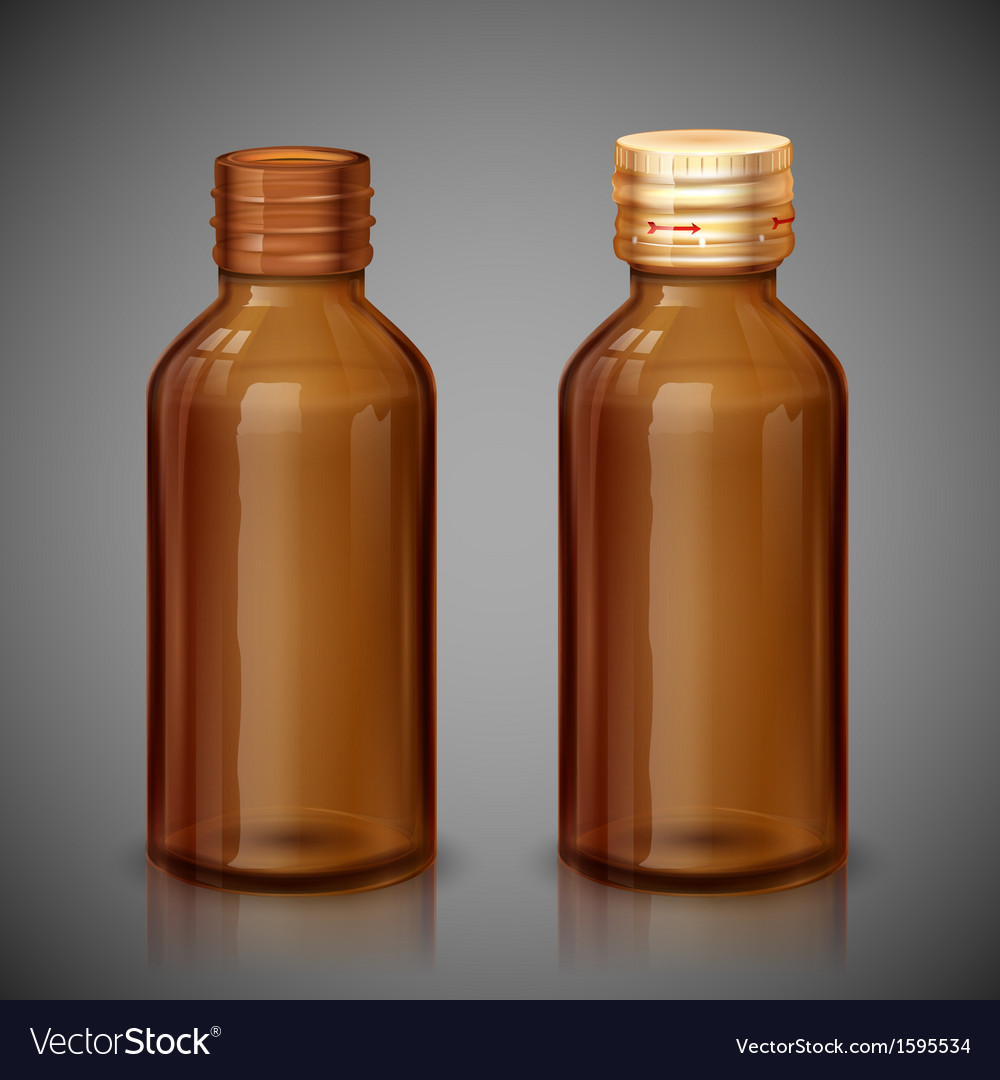 Medicine syrup bottle vector | Price: 1 Credit (USD $1)