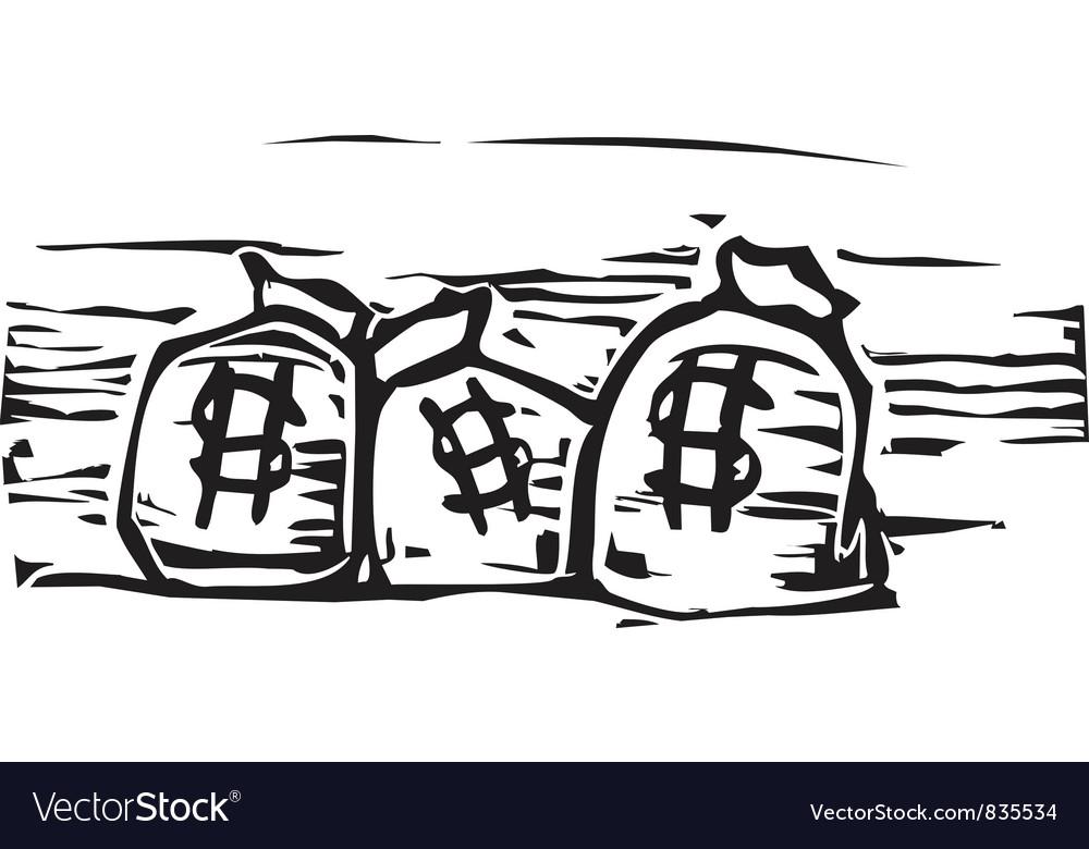 Money bags vector | Price: 1 Credit (USD $1)
