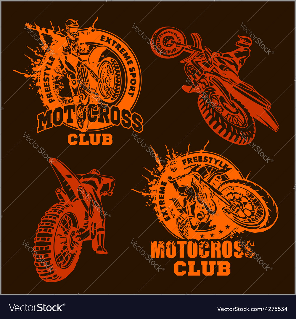 Motocross sport emblem vector | Price: 3 Credit (USD $3)