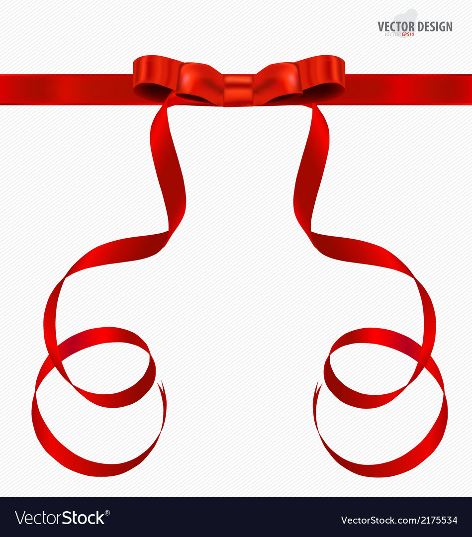 Red gift bows and red ribbons vector | Price: 1 Credit (USD $1)