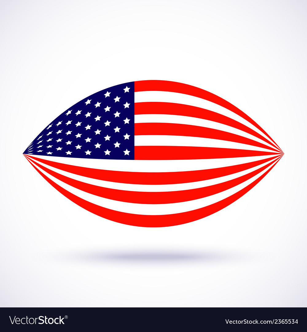 Stylish american flag for independence day vector | Price: 1 Credit (USD $1)