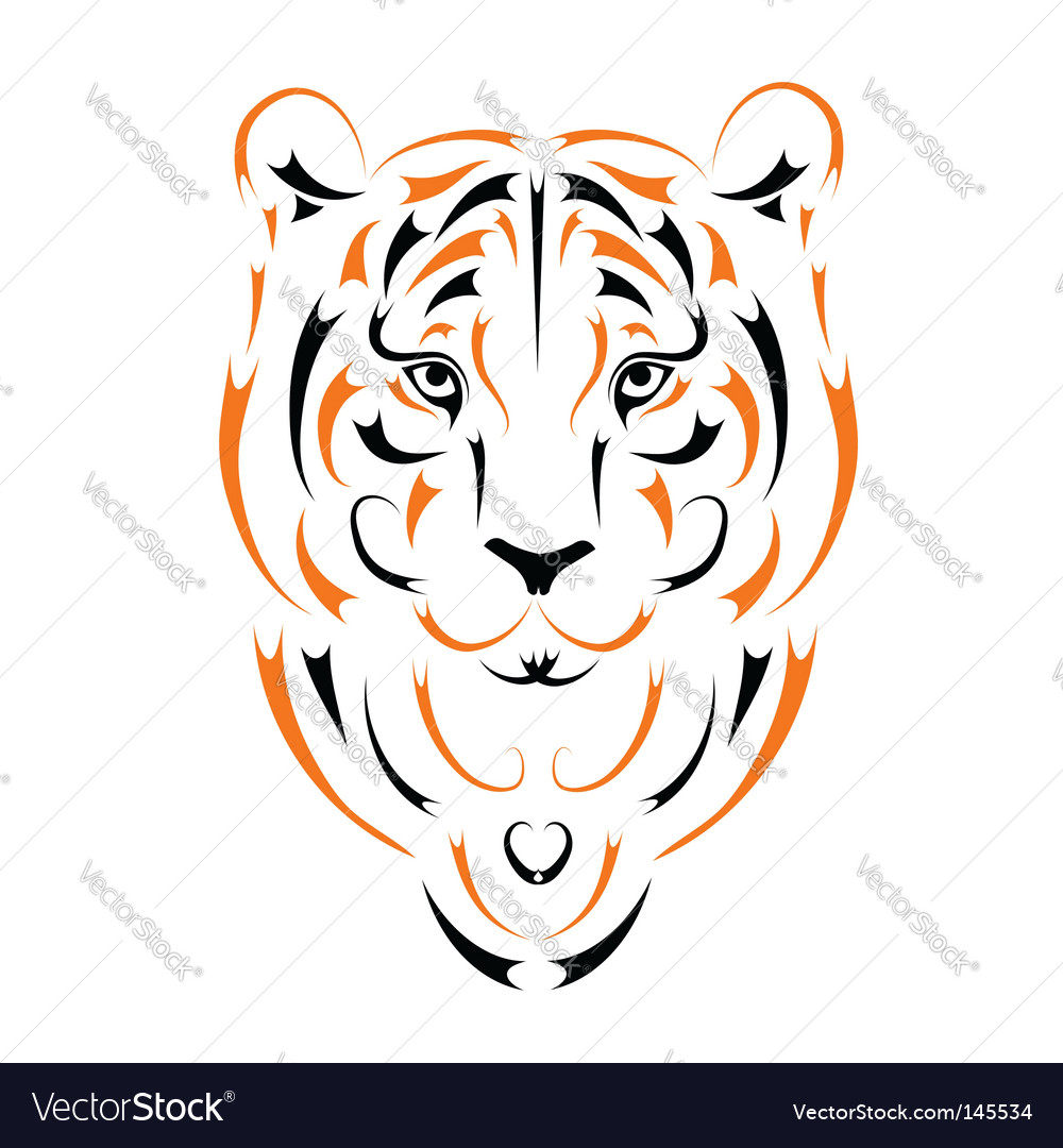 Tiger symbol 2010 year vector | Price: 1 Credit (USD $1)