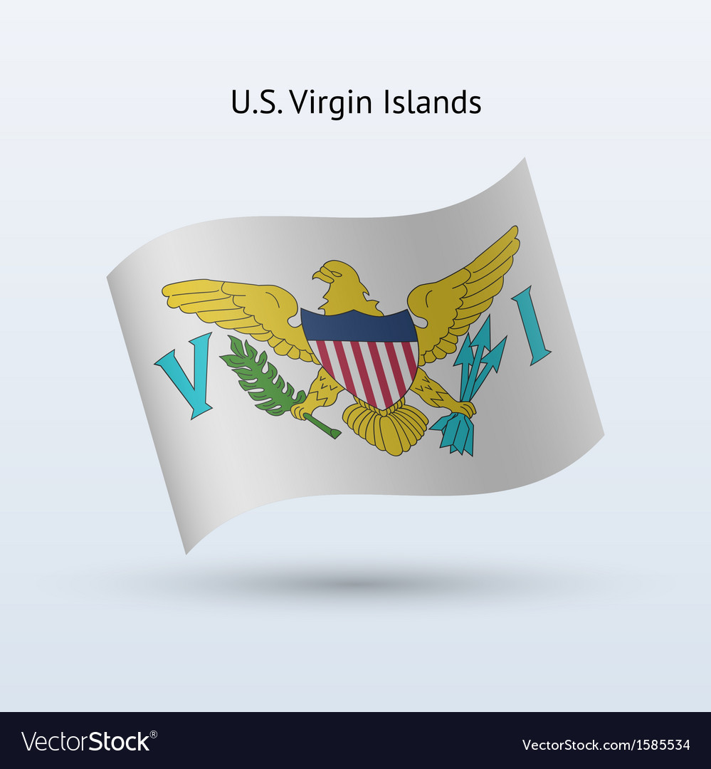 Us virgin islands flag waving form vector | Price: 1 Credit (USD $1)
