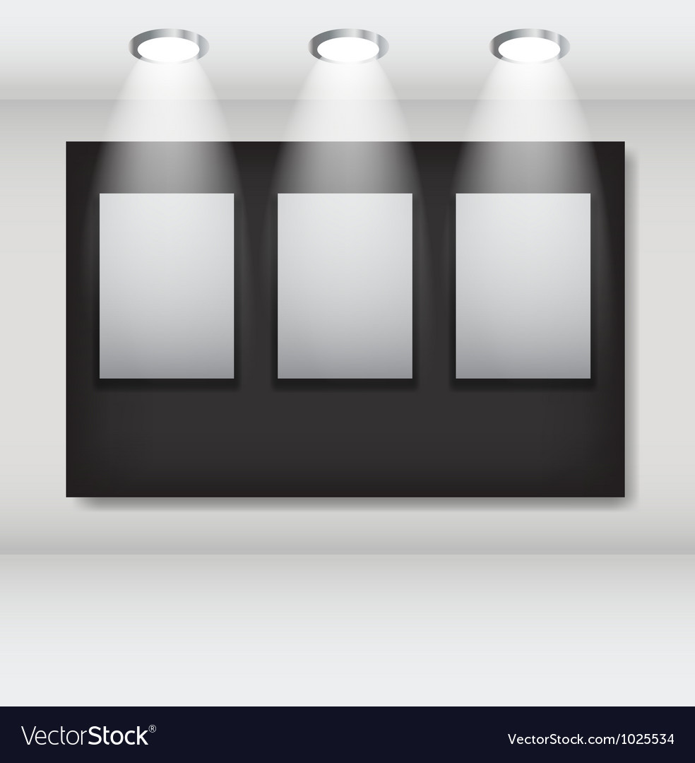 White frames in art gallery ector vector | Price: 1 Credit (USD $1)