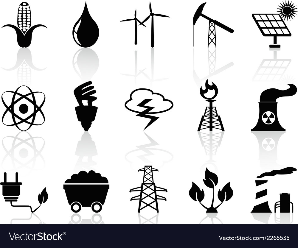 Alternative energy icons set vector | Price: 1 Credit (USD $1)