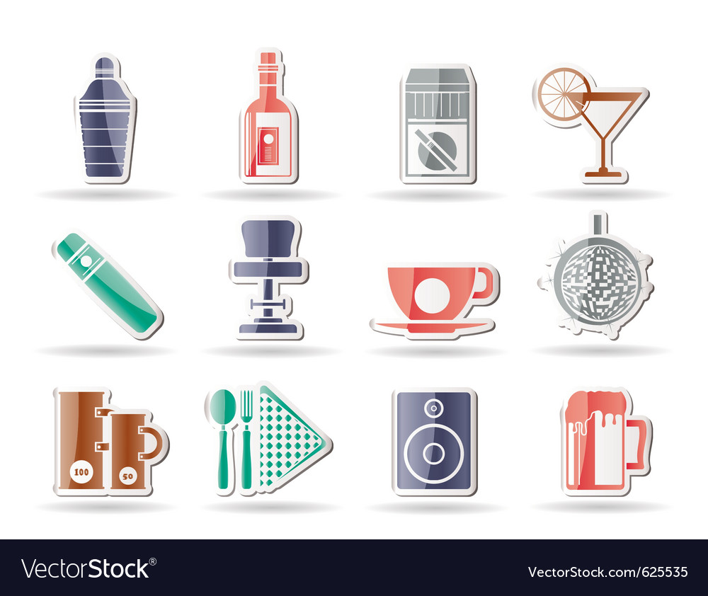Bar and drink icons vector | Price: 1 Credit (USD $1)