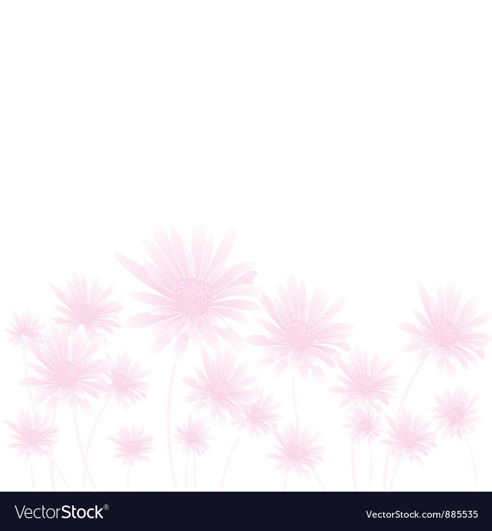 Chamomile pink bottom vector | Price: 1 Credit (USD $1)