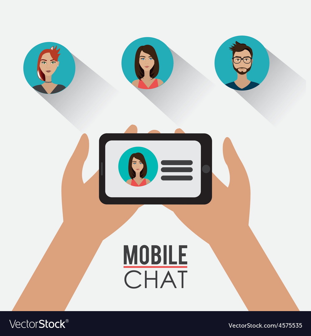 Chat mobile design vector | Price: 1 Credit (USD $1)