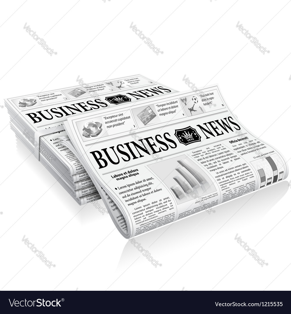 Concept - business news vector | Price: 1 Credit (USD $1)