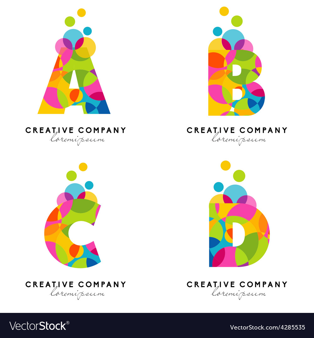 Creative alphabet letters vector