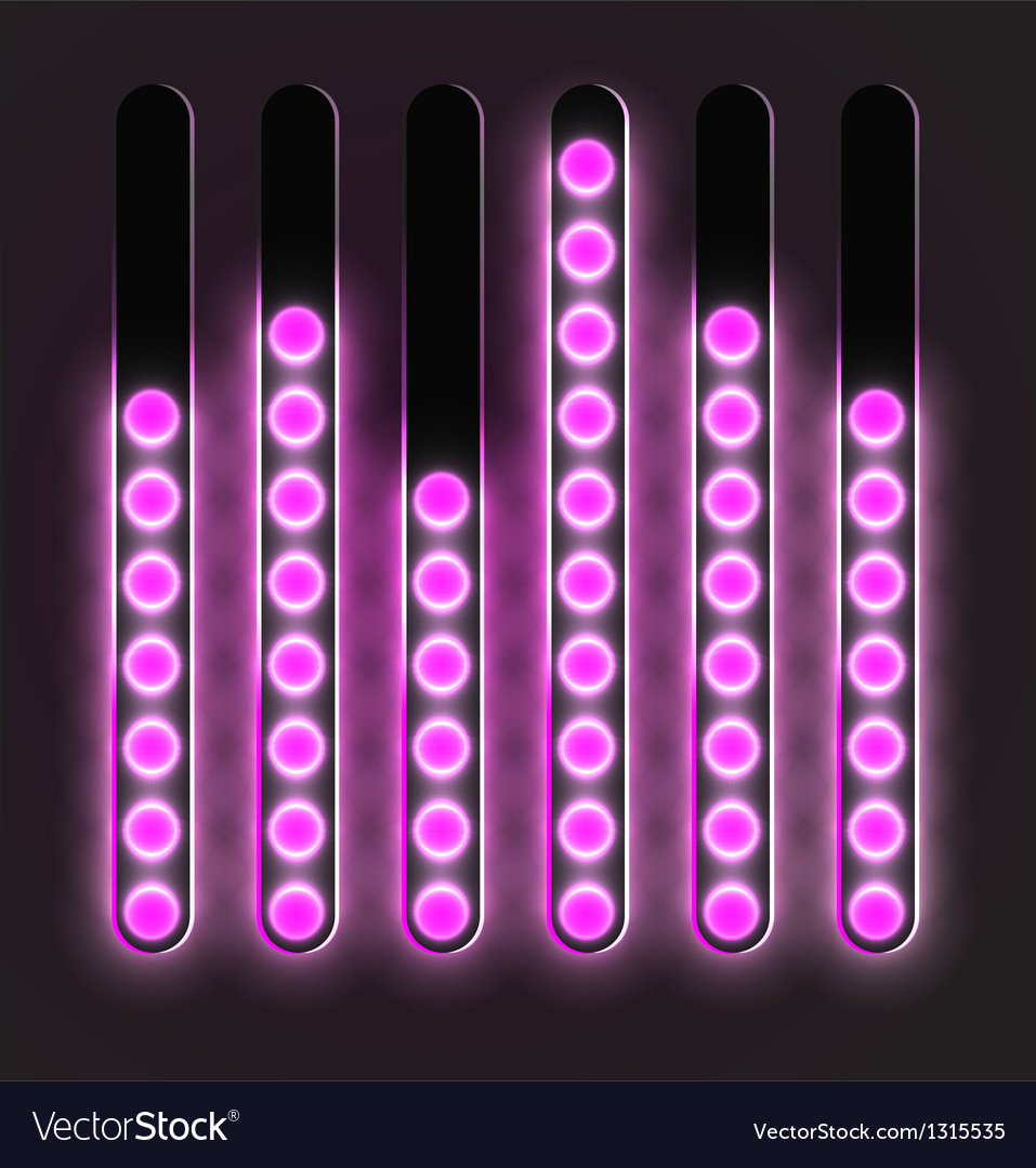 Equalizer glossy glowing track bar vector | Price: 1 Credit (USD $1)