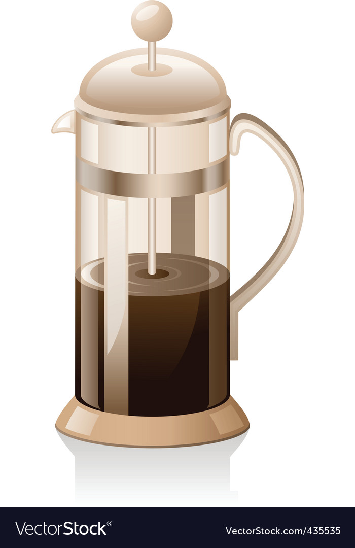 French press vector | Price: 3 Credit (USD $3)
