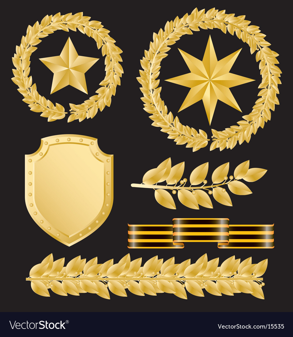 Gold laurels vector | Price: 3 Credit (USD $3)