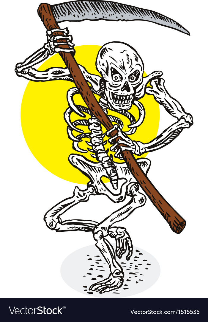 Grim reaper skeleton stance vector | Price: 1 Credit (USD $1)