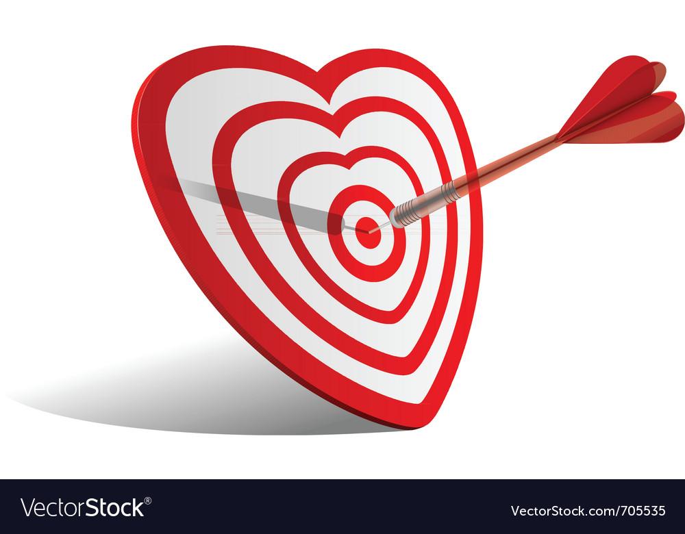 Heart dart vector | Price: 1 Credit (USD $1)