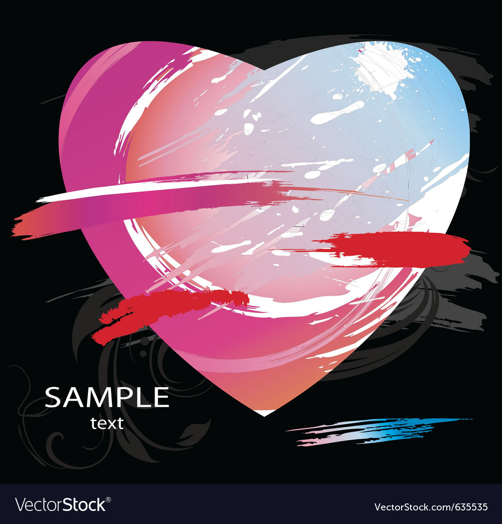 Heart splashes vector | Price: 1 Credit (USD $1)