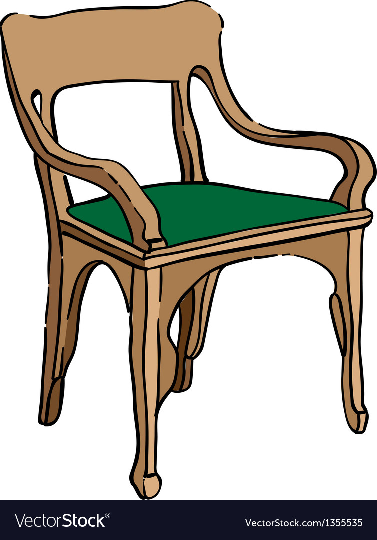Jugendstil chair vector | Price: 1 Credit (USD $1)