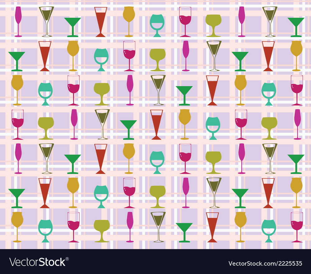 Pattern of wine glasses vector | Price: 1 Credit (USD $1)