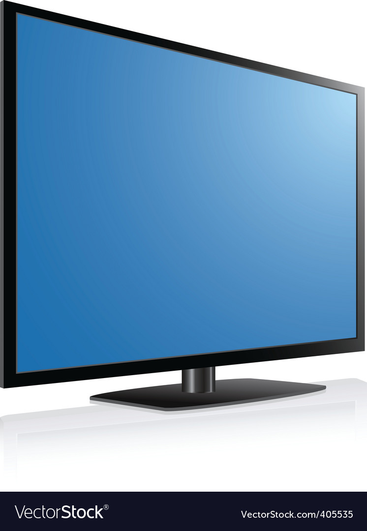 Plasma tv vector | Price: 1 Credit (USD $1)