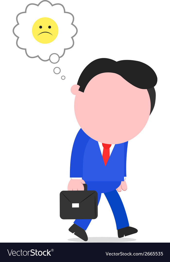 Sad businessman walking vector | Price: 1 Credit (USD $1)
