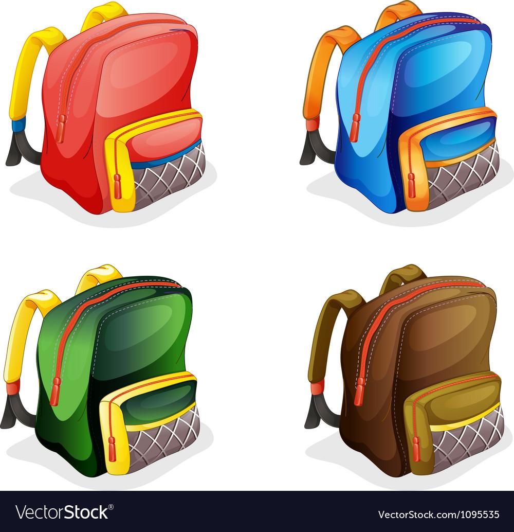 School bags vector | Price: 1 Credit (USD $1)