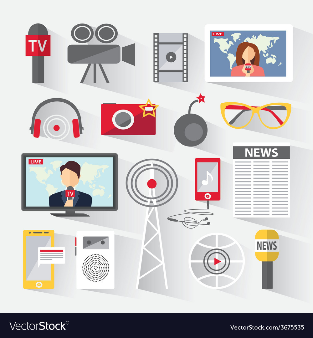 Set of icons telecommunications vector | Price: 1 Credit (USD $1)