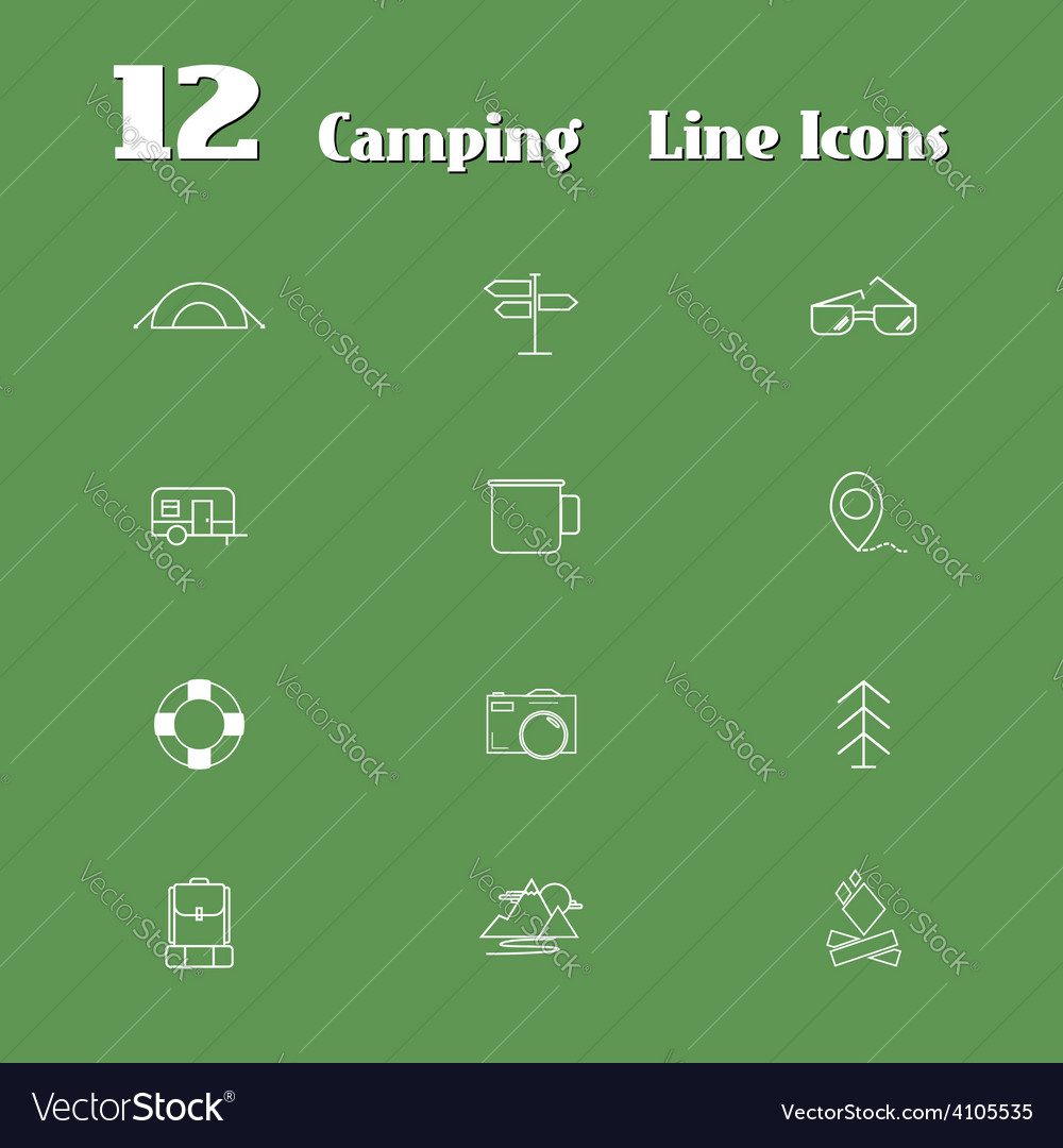 Travel line icons for web and mobile minimalistic vector | Price: 1 Credit (USD $1)