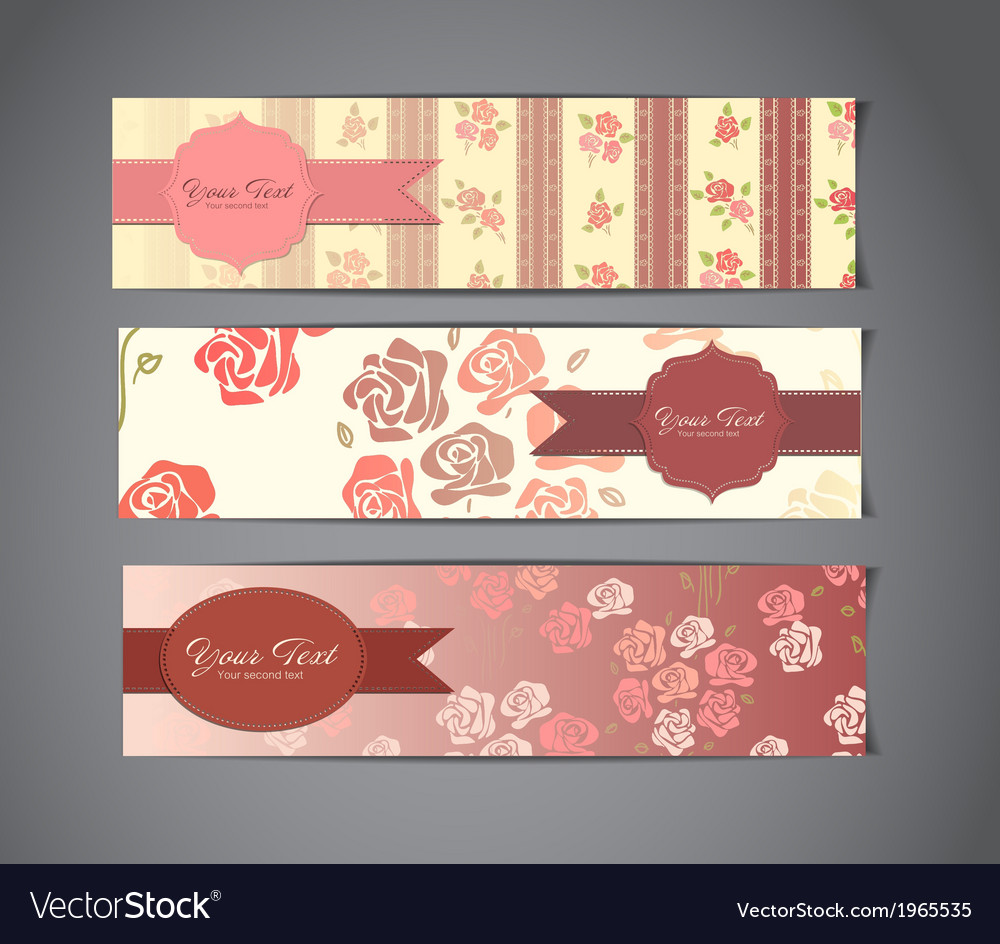 Vintage banners vector   Price: 1 Credit (USD $1)