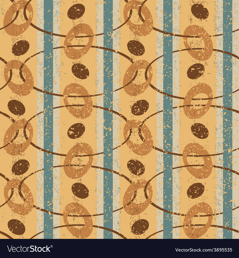 Vintage pattern with ovals vector | Price: 1 Credit (USD $1)