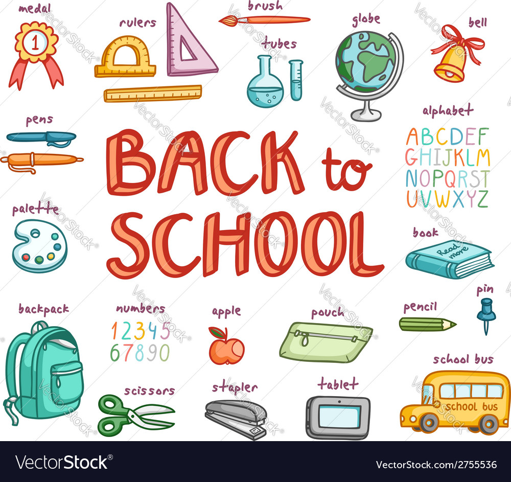Back to school collection vector | Price: 1 Credit (USD $1)