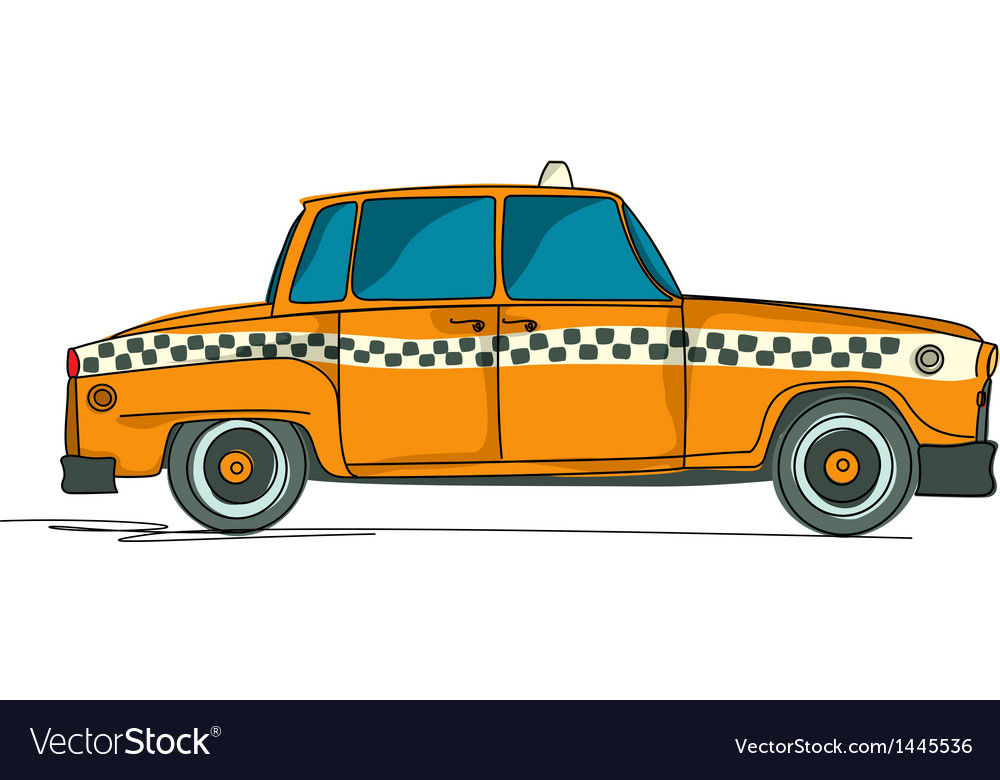 Cartoon yellow cab vector | Price: 1 Credit (USD $1)