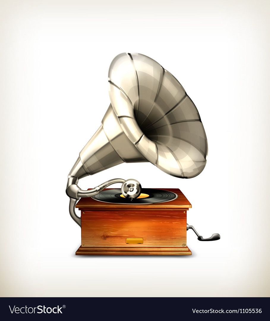 Gramophone vector | Price: 3 Credit (USD $3)