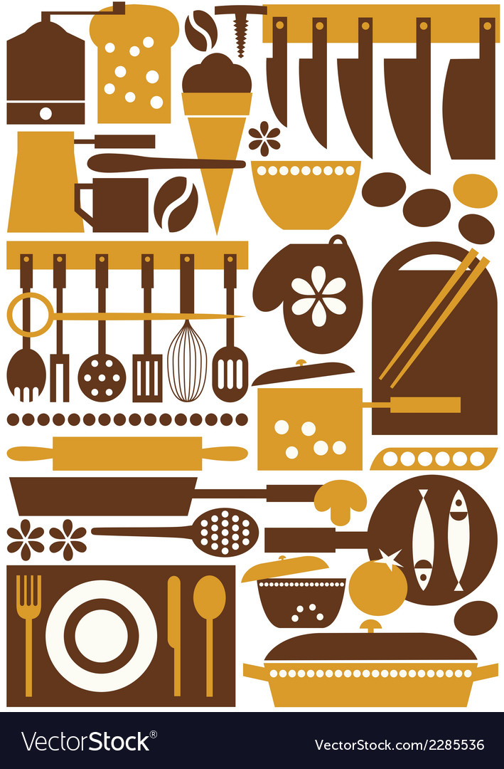 Kitchen 3 seamless vector | Price: 1 Credit (USD $1)
