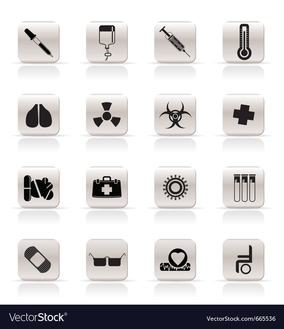 Medical themed icons and warning-signs vector | Price: 1 Credit (USD $1)
