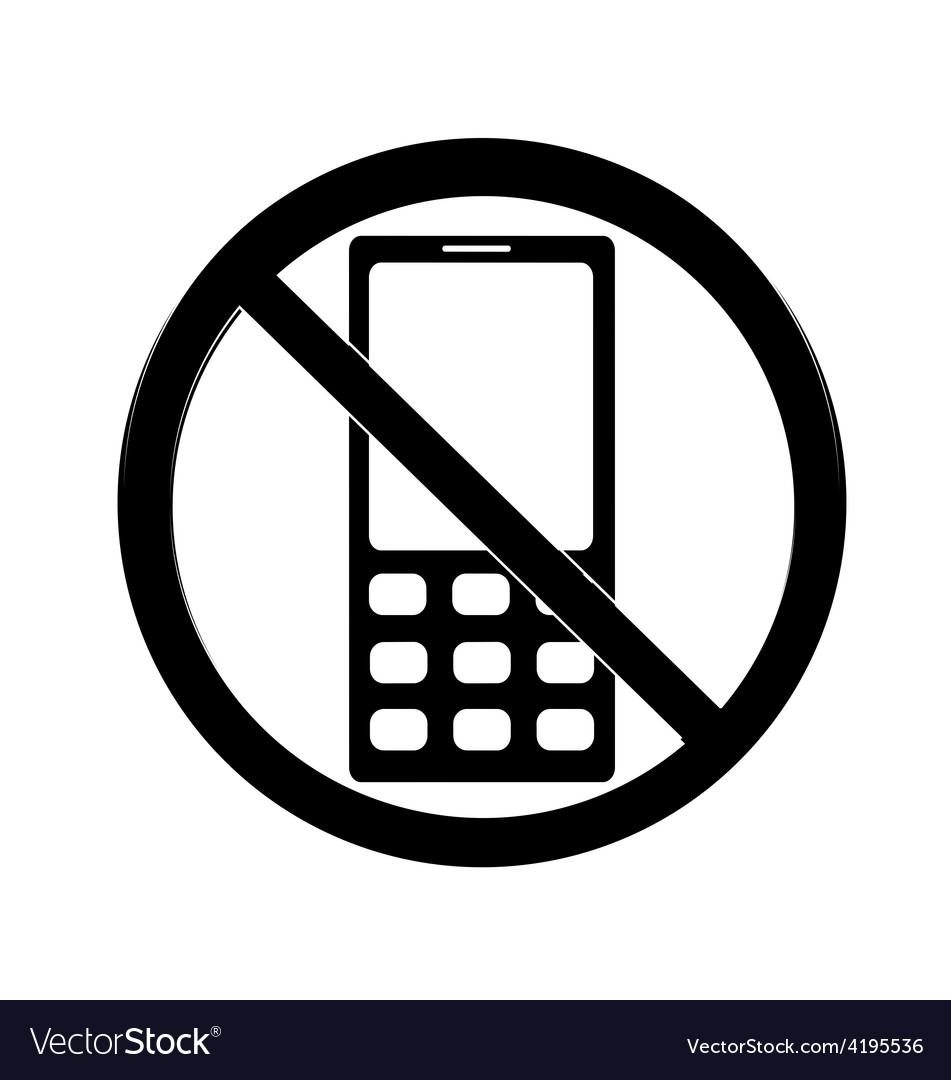 No cell sign vector | Price: 1 Credit (USD $1)