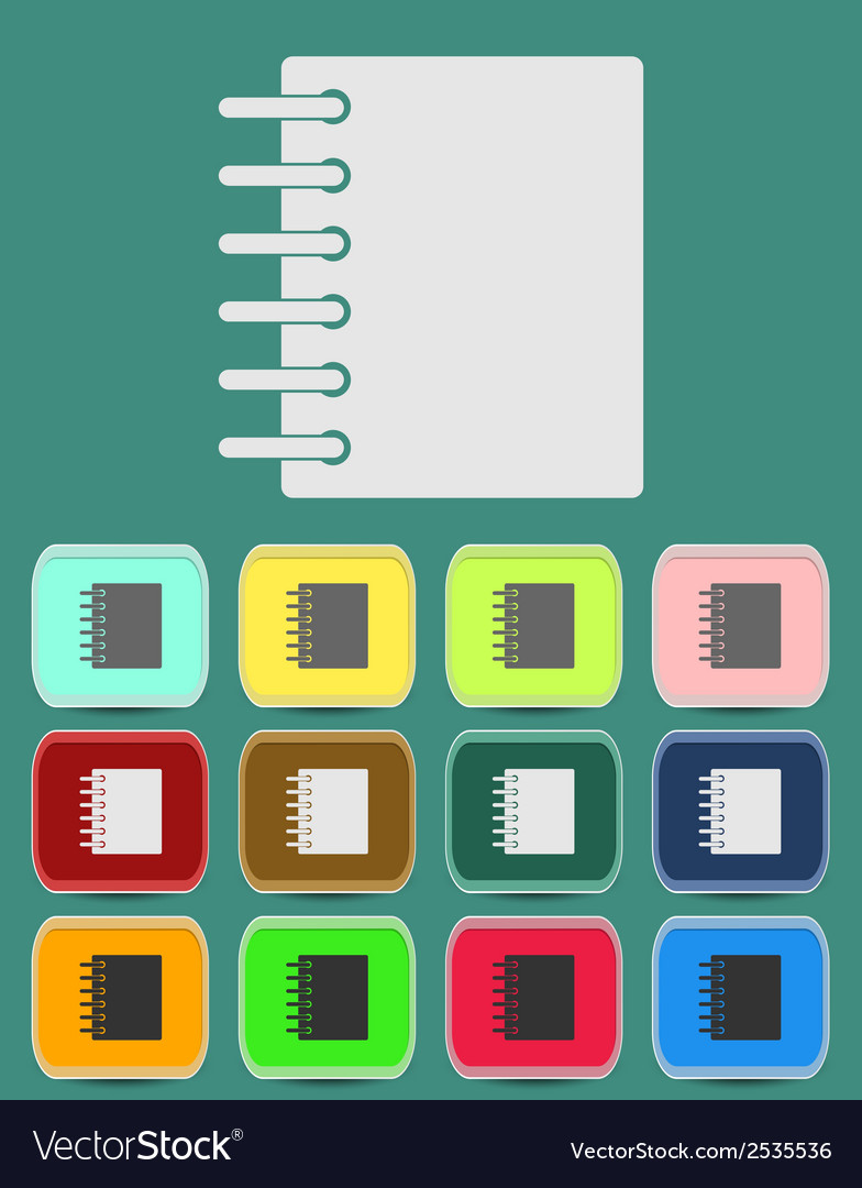 Ring binder calendar notepad - icon vector | Price: 1 Credit (USD $1)
