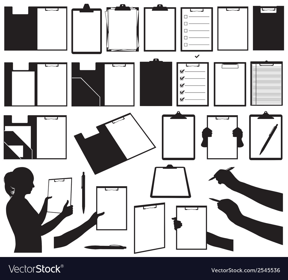Set of different clipboards vector | Price: 1 Credit (USD $1)