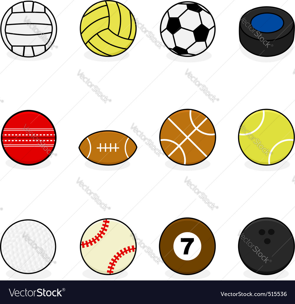 Sports balls vector | Price: 1 Credit (USD $1)