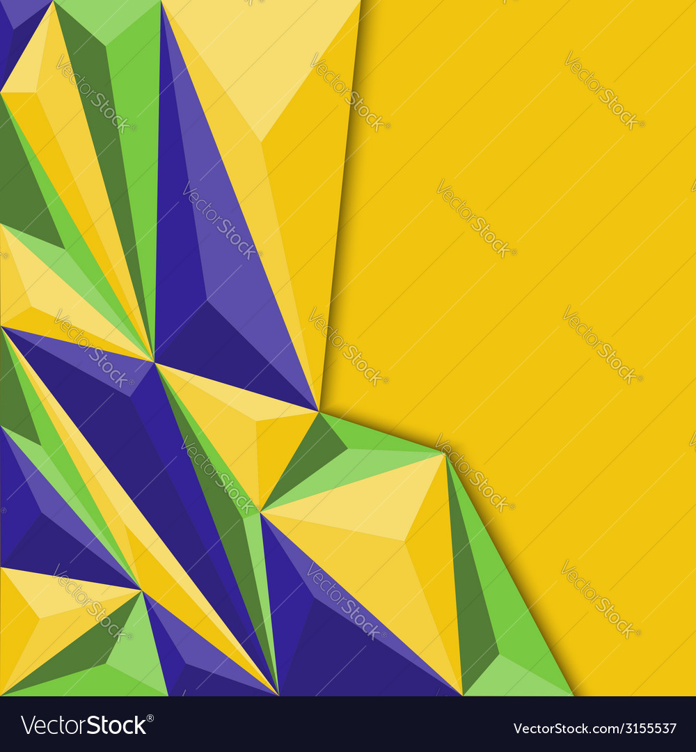 Abstract geometric background in blue yellow and vector | Price: 1 Credit (USD $1)