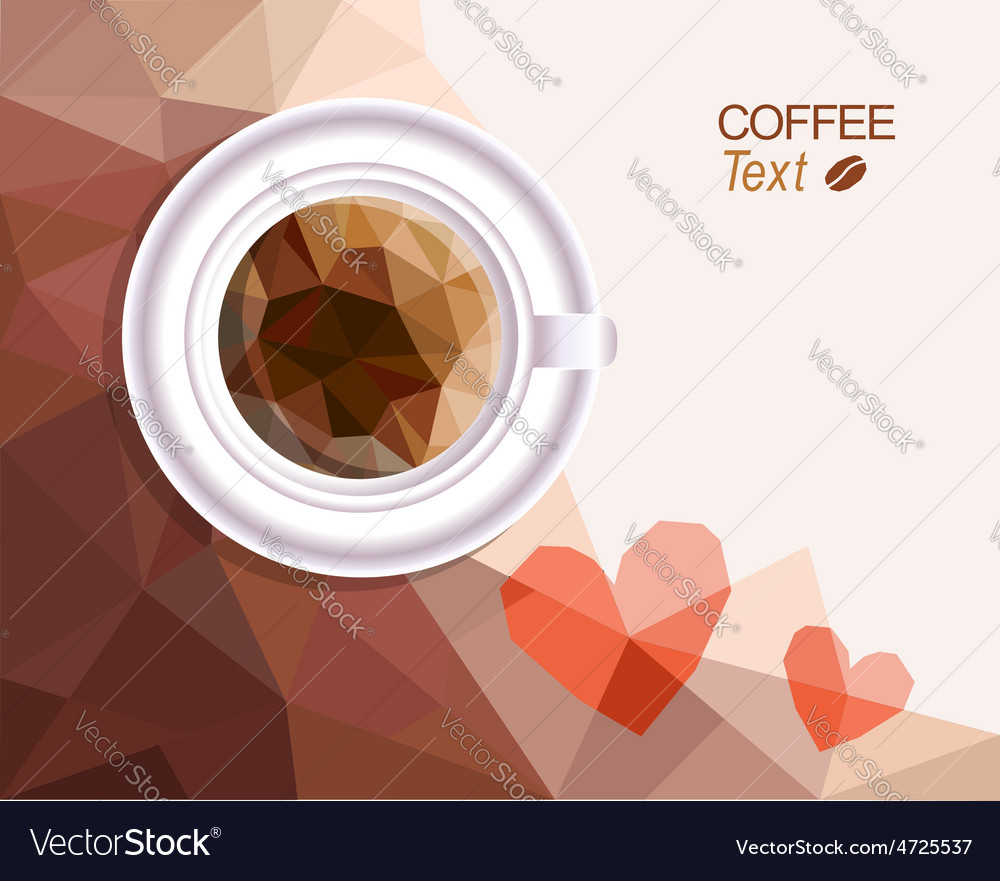 Coffee love background vector | Price: 1 Credit (USD $1)