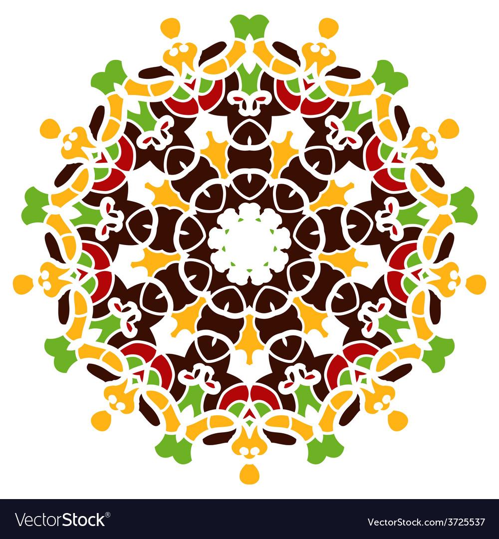 Colorful mandala motif vector   Price: 1 Credit (USD $1)
