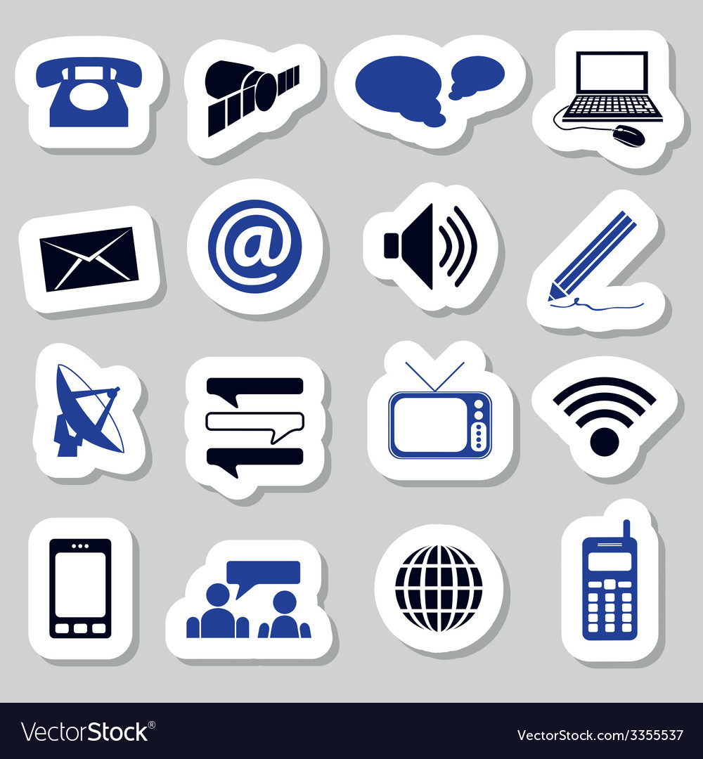 Communication stickers vector | Price: 1 Credit (USD $1)
