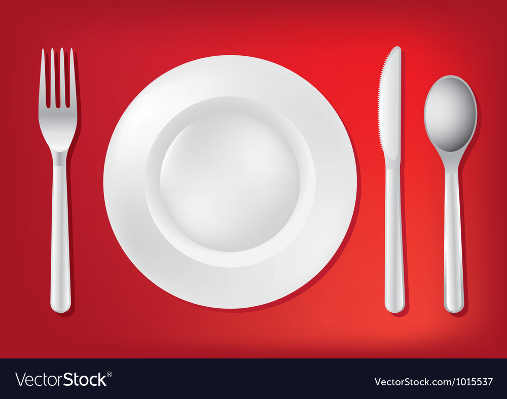 Dining table set up vector | Price: 1 Credit (USD $1)