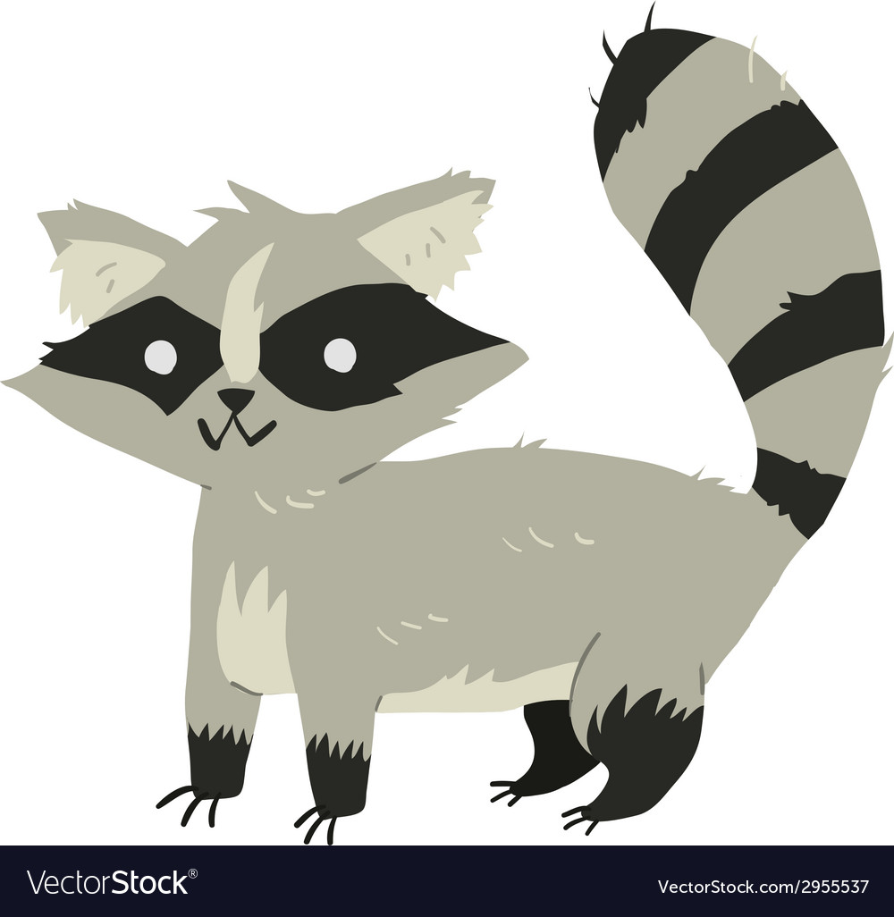 Funny cartoon raccoon mascot vector | Price: 1 Credit (USD $1)