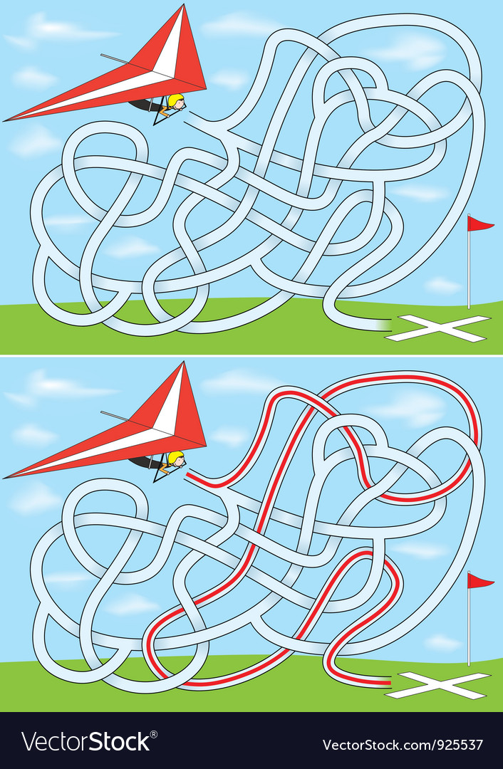 Hang gliding maze vector | Price: 3 Credit (USD $3)