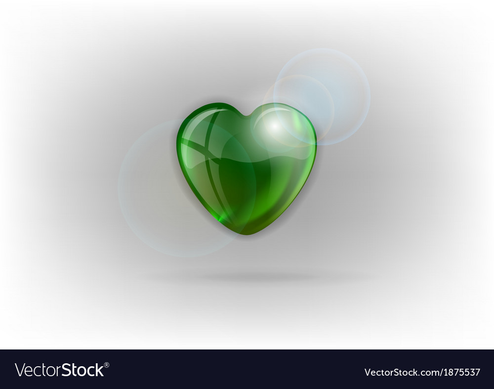 Heart shine on light green vector | Price: 1 Credit (USD $1)